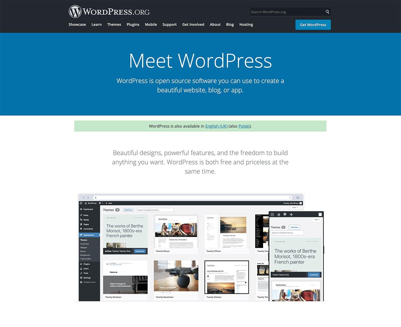 wordpress best website creator