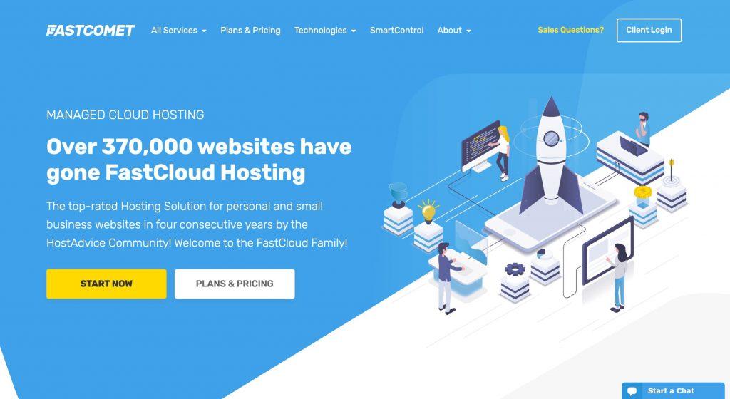 Optimized Irish WordPress Hosting FastComet Choice